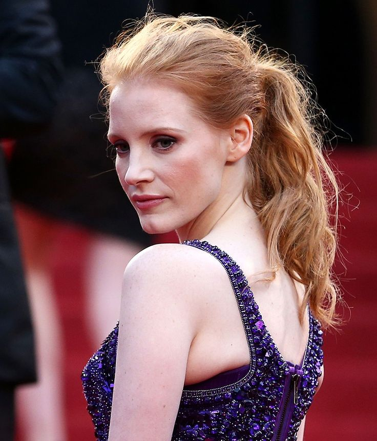 Jessica Chastain Cannes 2013 coleta despeinada pony tail